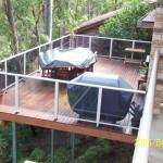 Deck with Aluminium & Glass Rails