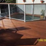Merbau Deck with Glass Rails