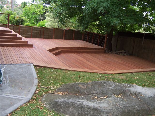 100 0502 precision decking for Split level patio