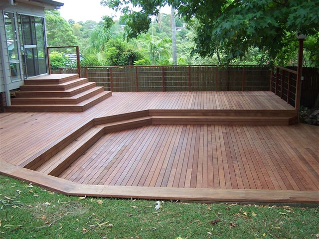 2 11 2011 precision decking for Decking in back garden
