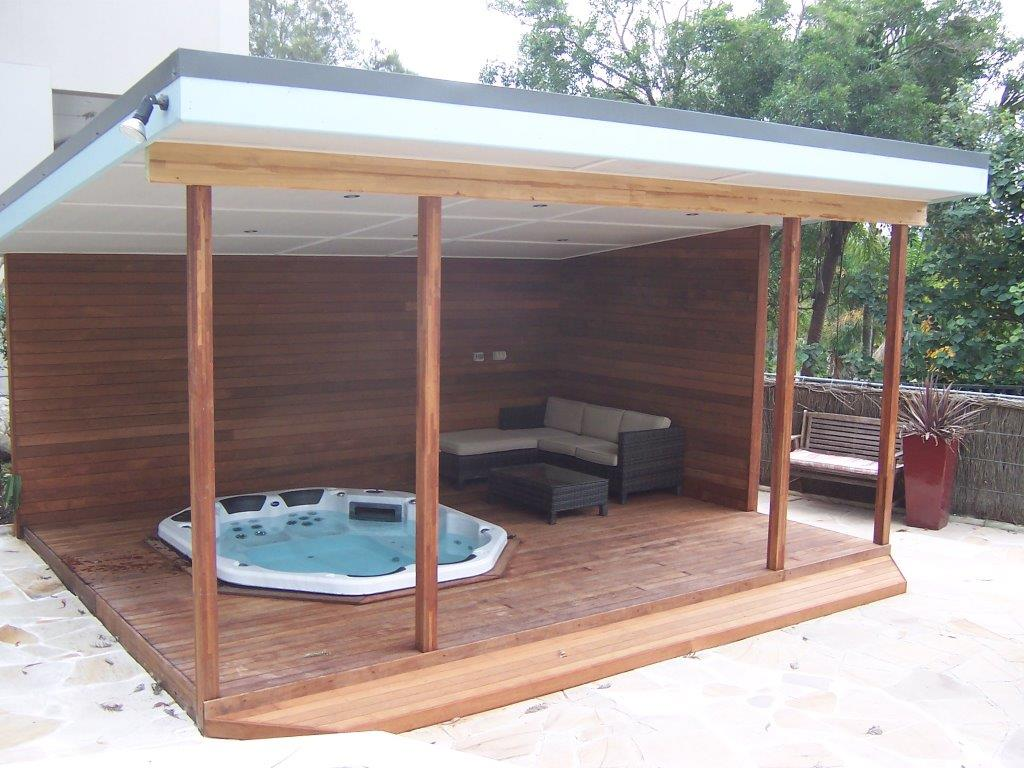 deck spa gazebo sydney northern beaches precision decking. Black Bedroom Furniture Sets. Home Design Ideas