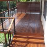 Merbau deck & screen with glass rails
