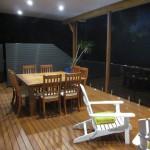 Outdoor Deck at night Northern Beaches Sydney