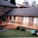 Deck With Timber Rails