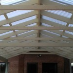 Pitched roof pergola (underside)