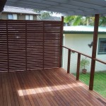 Wire rail with a Modwood screen