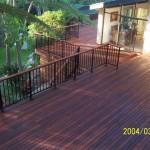 Merbau Deck with Aluminium Childproof Rails & Merbau Top Capping
