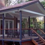 Deck, tiled roof, gyprock & aluminium rail