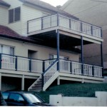 2 Level Deck with Timber Childproof Rails