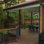 Modwood Deck, aluminium rails & tiled roof