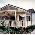Deck with Gable Roof Pergola