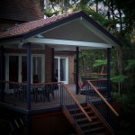 Deck with Tiled Roof